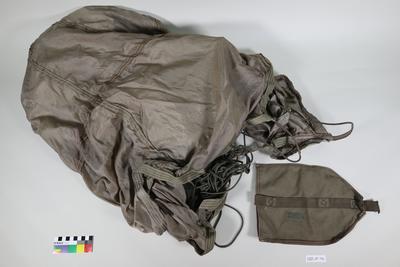 Canvas bag for parachute