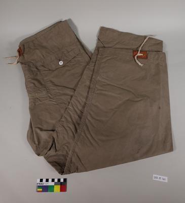 Wind Proof Pants: Beige