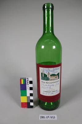 Wine Bottle: Signed