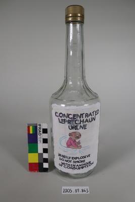 Spirits Bottle: Hand Drawn Label