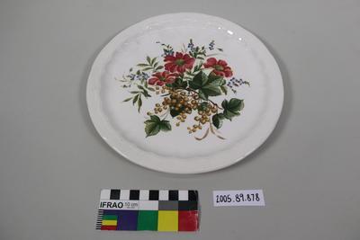Dinner Plate: Flowers