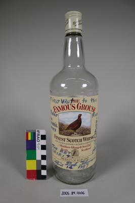 Scotch Whisky Bottle: Signed