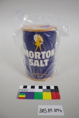 Container of salt