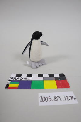 Small stuffed toy penguin