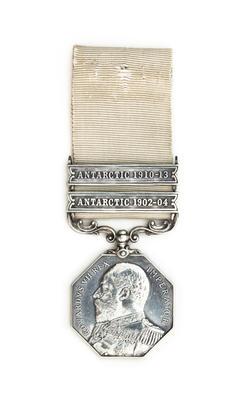 Antarctic Polar Medal: Robert Falcon Scott, with two bars