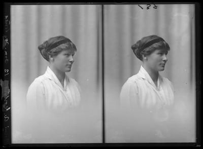 Glass Plate Negative: Miss A Gorton