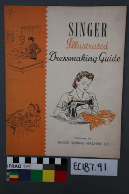 booklet, sewing guide