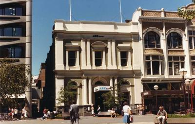 Colour Photograph: ANZ Bank on Cashel Street, 1985