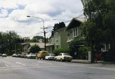Colour Photograph: Montreal Street from Gloucester Street Looking Towards Armagh Street, 1985