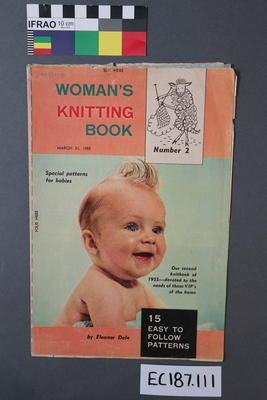 "booklet, knitting pattern: ""Woman's Knitting Book,  Book No.2"" (supplement to ""Woman"" magazine, 21 March 1955)"