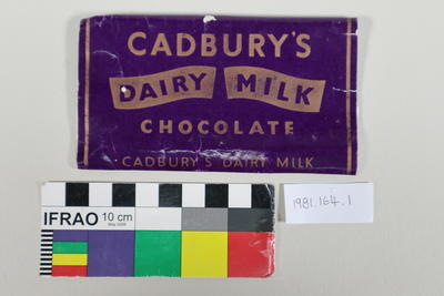 Wrapper: Chocolate; Pre 1957; 1981.164.1