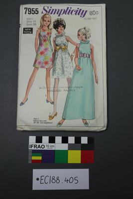 pattern, dressmaking; 1968; ;