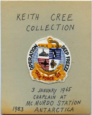 Patch: Monogram for Operation Deep Freeze Task Force 43