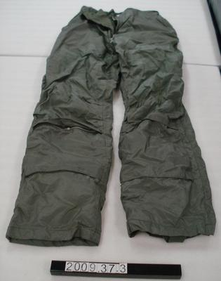 United States Navy winter flying trousers; 1960s; 2009.37.3