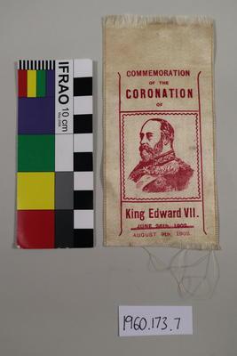Commemorative Silk: Coronation of King Edward VII