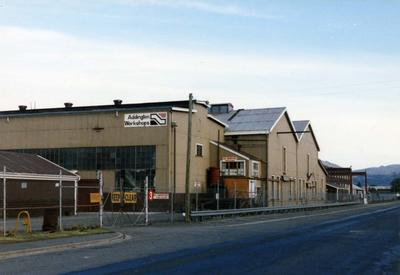 Colour Photograph: Railway Workshop, Clarence Street, 1985