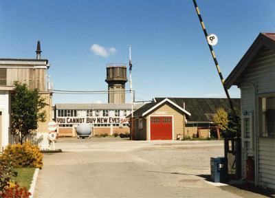 Colour Photograph: Addington Railway Workshops Complex Section, 1985