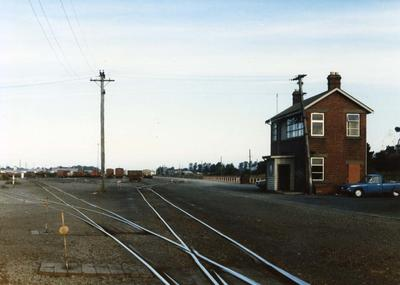 Colour Photograph: Signal Box, Middleton Rail Yards, 1985