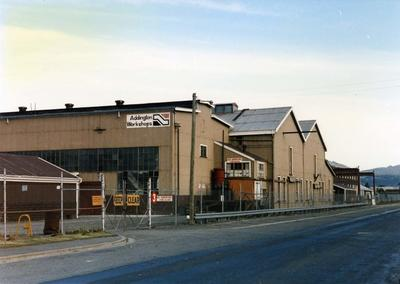 Colour Photograph: Railway Workshop Building, Clarence Street, 1985
