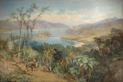 Painting: Akaroa Harbour Seen from Barry's Bay