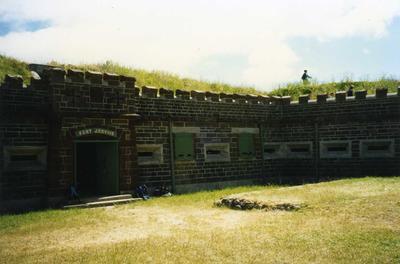 Colour Photograph: Fort Jervois, Ripapa Island, Lyttelton, 1997