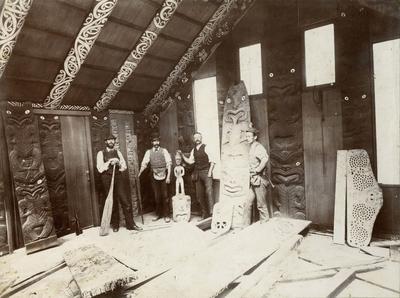 Photograph: Hau Te Ananui o Tangaroa construction