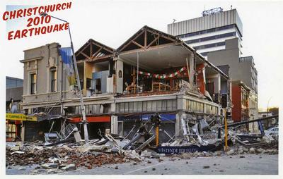 Postcard: Christchurch 2010 Earthquake Series: Westende Jewellers