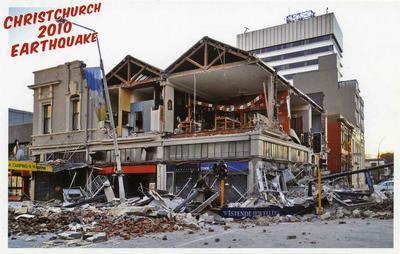 Postcard: Christchurch 2010 Earthquake Series: Westende Jewellers; 2010; 2011.85.1