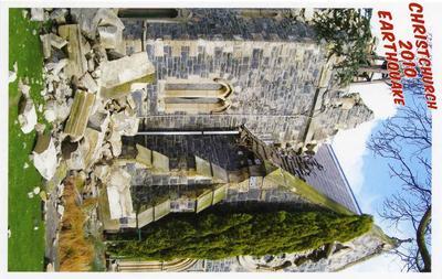 Postcard: Christchurch 2010 Earthquake Series: St John the Baptist Anglican Church, Latimer Square; 2010; 2011.85.2