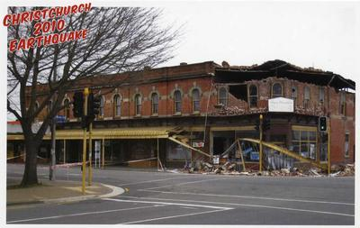Postcard: Christchurch 2010 Earthquake Series: Angus Donaldson Copy Service; 2010; 2011.85.4