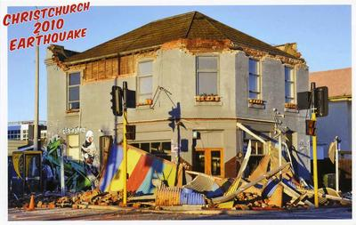 Postcard: Christchurch 2010 Earthquake Series: Simply Catering; 2010; 2011.85.6