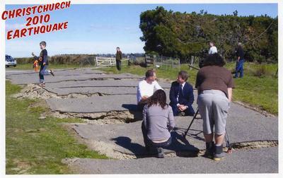 Postcard: Christchurch 2010 Earthquake Series: Highfield Road Near Darfield; 2010; 2011.85.10