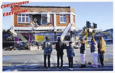 Postcard: Christchurch 2010 Earthquake Series: Cranford Street and Westminster Street