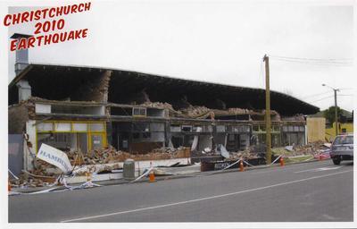 Postcard: Christchurch 2010 Earthquake Series: Barbadoes Street and Edgeware Road
