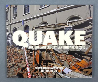 Book: Quake: The Big Canterbury Earthquake of 2010