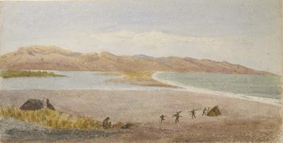 Painting: Lake Ellesmere, Mt Herbert, Banks Peninsula