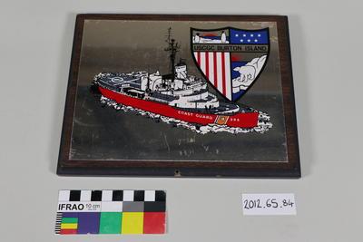 "Plaque: ""USCGC Burton Island"""