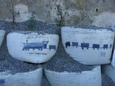Digital Photograph: Painting on Retaining Wall, The Gravy Train