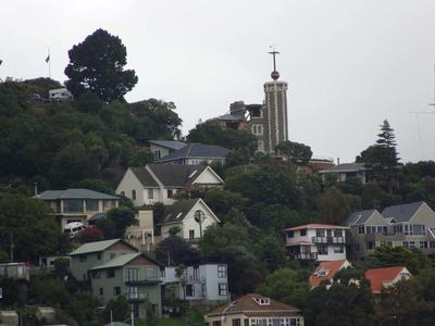 Digital Photograph:  Earthquake damage to the Lyttelton Timeball Station
