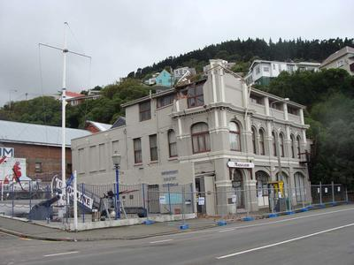 Digital Photograph: Earthquake Damage to Lyttelton Historical Museum on Gladstone Quay, Lyttelton