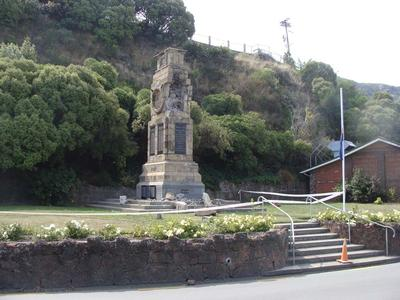 Digital Photograph: Earthquake Damage to Lyttelton Cenotaph on Simeon Quay, Lyttelton