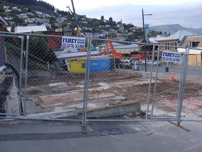 Digital Photograph:  Vacant site on the corner of Canterbury and London Streets, Lyttelton