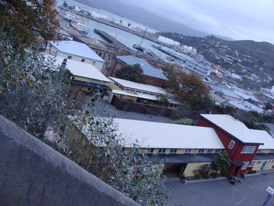 Digital Photograph: Lyttelton Main School from the Gaol Steps, Lyttelton