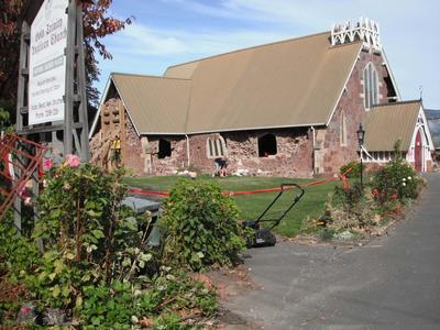 Digital Photograph: Church of The Most Holy Trinity, Winchester  Street, Lyttelton; 12 Apr 2011; 2013.17.64