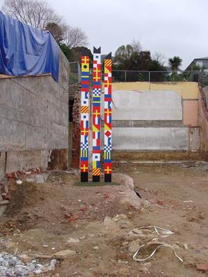Digital Photograph: Artwork on the Site of the Harbourlight Theatre, London Street, Lyttelton