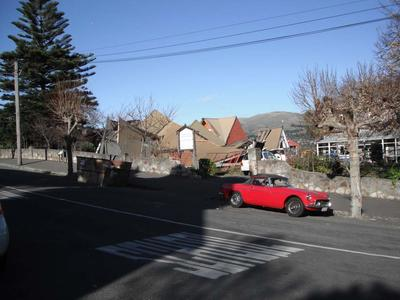 Digital Photograph:  Earthquake damage to  Church of the Most Holy Trinity, Winchester Street, Lyttelton; 15 Jun 2011; 2013.17.89