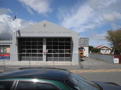 Digital Photograph:  Lyttelton Fire Station, London Street, Lyttelton