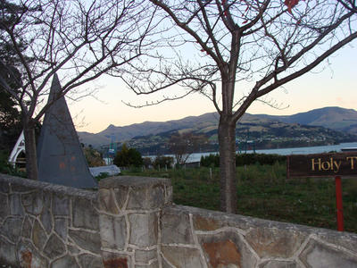 Digital Photograph: Site of Church of the Most Holy Trinity, Lyttelton