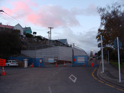 Digital Photograph: Retaining Wall, Sumner Road, Lyttelton; 27 May 2013; 2013.17.141
