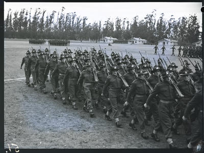 Film negative: K Force, passing out parade